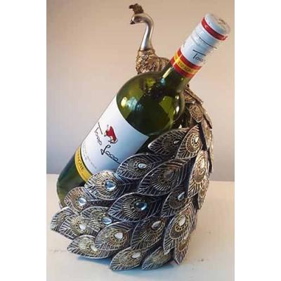 Porte-bouteille de vin paon