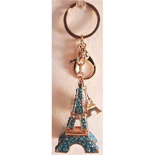 Porte-clés tour Eiffel Paris bleu