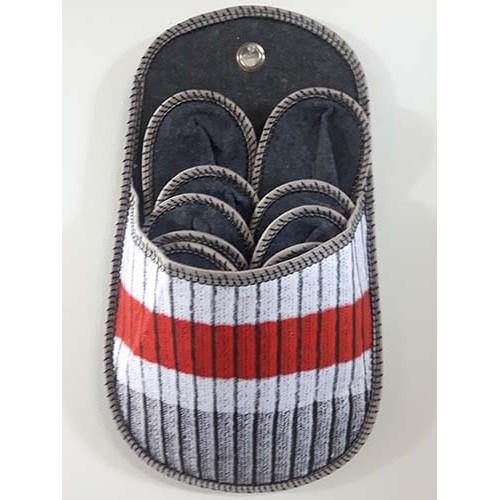 Porte-pantoufles bas de laine chalet