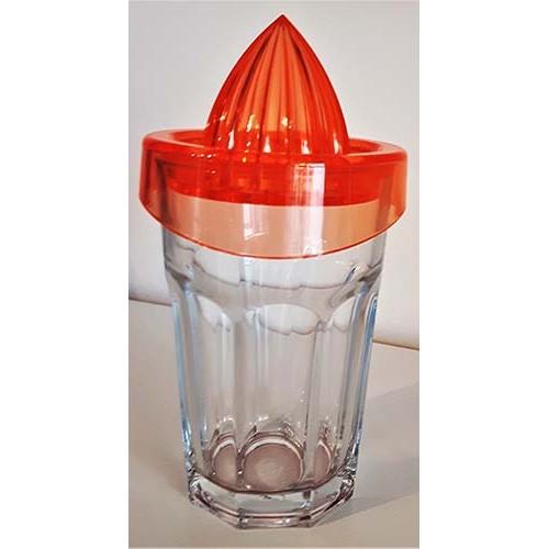Presse-agrumes en verre orange