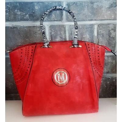 sac à main suédine rouge m