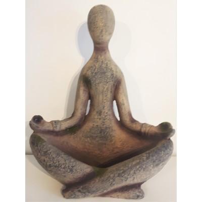 Sculpture yoga zen bain oiseaux pierre