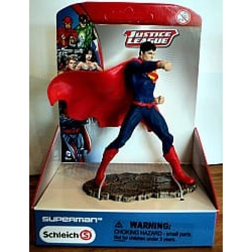 Superman debout justice league de schleich