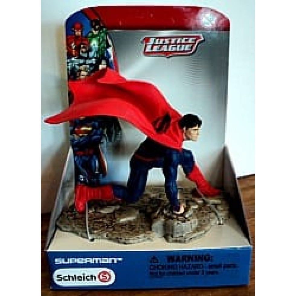 Superman position acroupie justice league de schleich