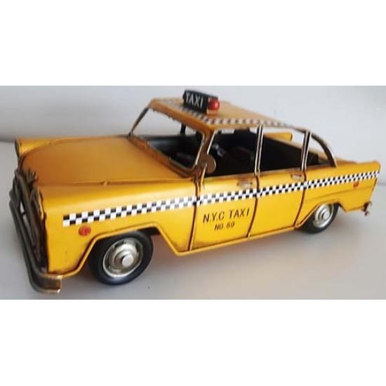 Taxi métal jaune