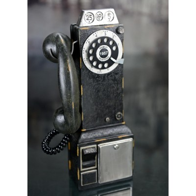 Téléphone public vintage 1957 déco