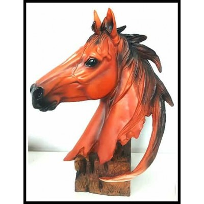 Superbe tête de cheval en résine