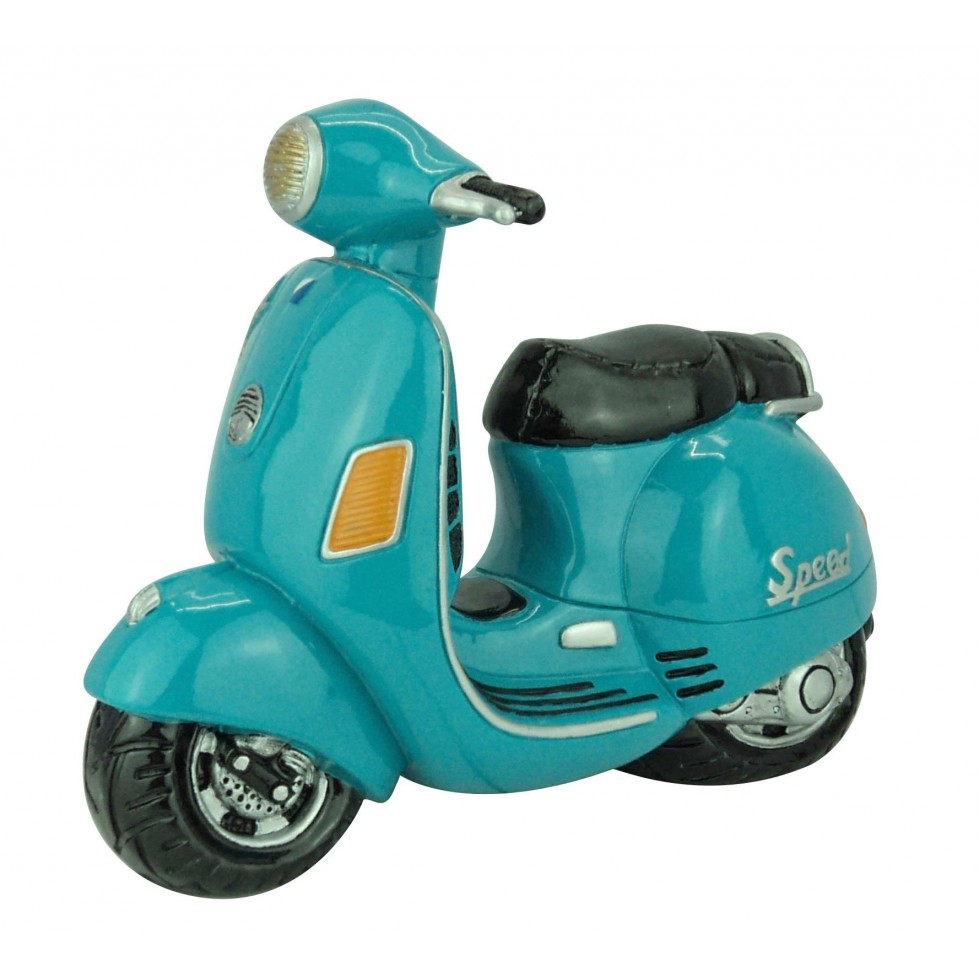 Vespa bleue scooter vintage déco
