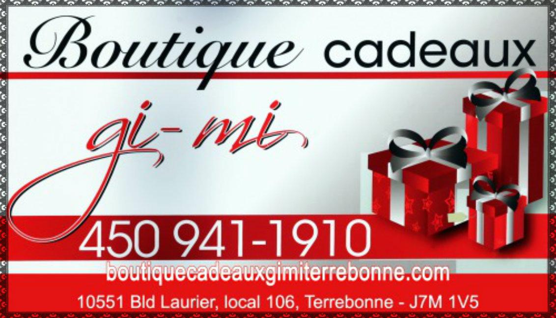 Boutique cadeaux en ligne Gi-Mi Terrebonne